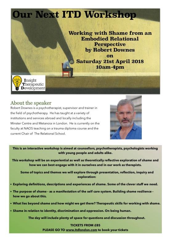 Poster for Robert Downes PDF - Shame Workshop